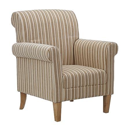 Premier Housewares Arlington Feature Chair in Cream Stripe