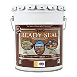Ready Seal 505 5-Gallon Pail Natural (Light Oak) Exterior Wood Stain and Sealer (Color: Light Oak, 5-Gallon)