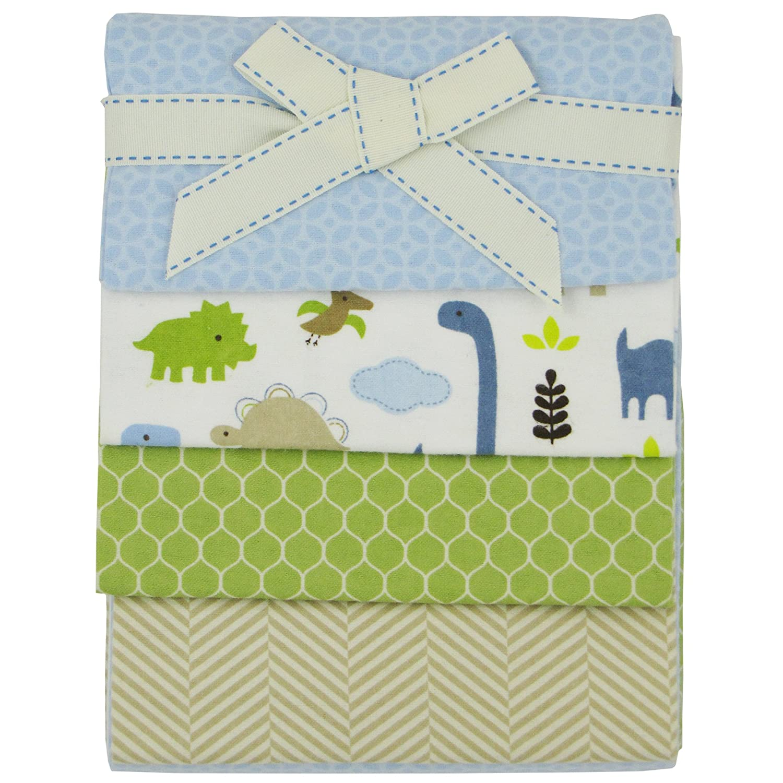 Jill McDonald Dino 4 Pack Flannel Blankets