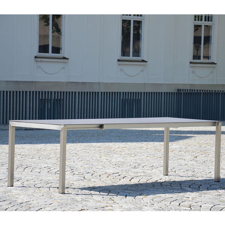 Lux Excell Ausziehtisch Platte anthrazitschwarz - 200 (260) x90 cm