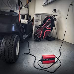 FORM 18 AMP EZGO TXT Battery Charger for 36 Volt Golf Carts - D style plug