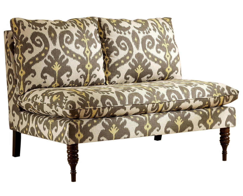 Skyline Furniture Armless Loveseat - Marakesh Graphite