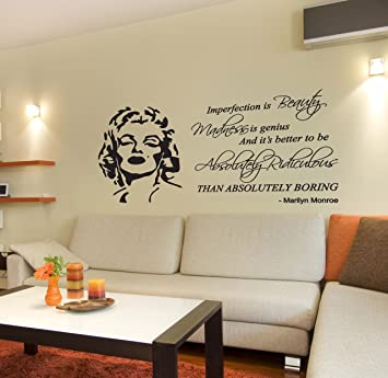 wandtattoo marilyn monroe zitat weisheiten und zitate. Black Bedroom Furniture Sets. Home Design Ideas