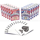 TRIUMPH Casino Class Poker Playing Cards Premium Deck of Poker Cards Bulk 12 Pack - 6 Red / 6 Blue, Standard Index Plastic Coated Linen Finish Professional Card Decks, Made in The USA