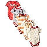 Nautica Baby-Girls Newborn 5 Pack Sails Bodysuits, Assorted, 6 Months (Color: Orange Sails, Tamaño: 3-6 Months)