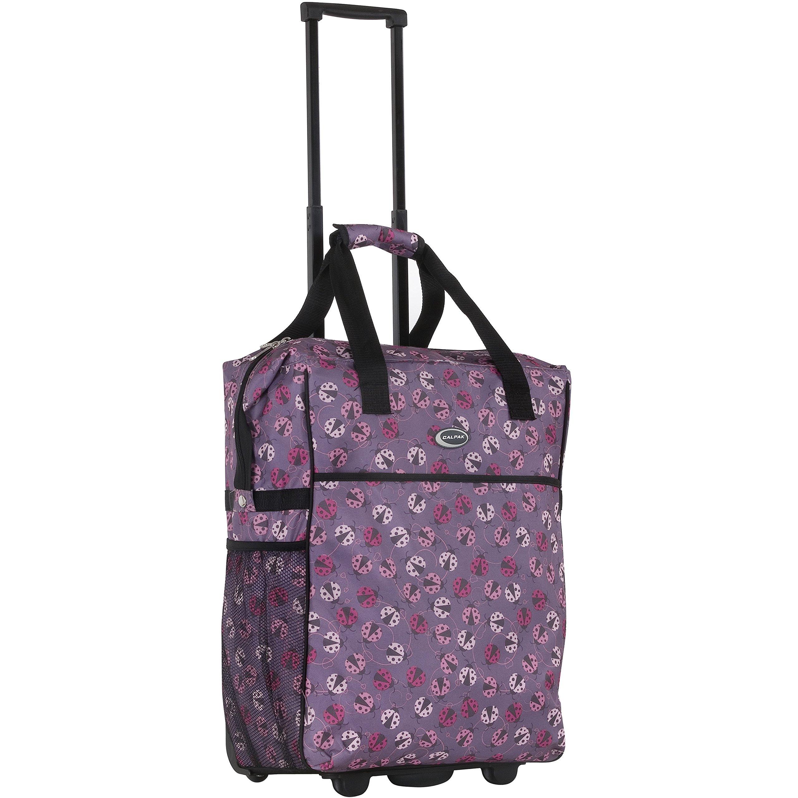 calpak big eazy 20 inch washable rolling shopping tote bag