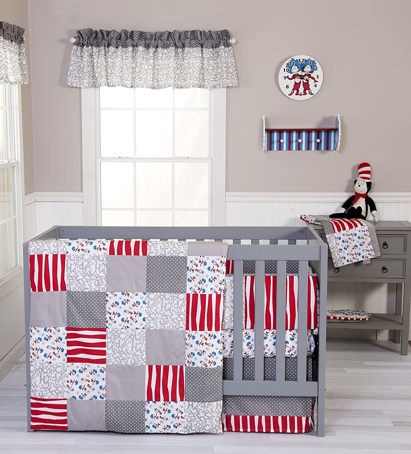 Trend Lab Dr Seuss Cat and Things Baby Bedding