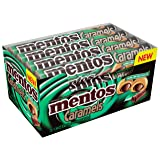Mentos Caramels Candy Roll, Caramel and Mint Dark Chocolate, 1.34 Ounce/9 Pieces (Pack of 12)