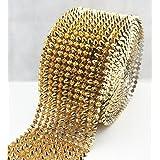 AEAOA 1 Yard Gold Sew Stitch On Spike Stud Cone Flat Back Punk Rock Trim Mesh Bead Craft (Gold Flat) (Color: Grass Green, Tamaño: Gold Flat)