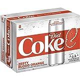 Diet Coke Sleek Can, Zesty Blood Orange, 12 Fluid Ounce (Pack of 8) (Tamaño: 12 Fluid Ounce (Pack of 8))