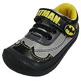 DC Comics Boys Batman Sneakers Velcro - toddler [3014] (Color: Grey and Black, Tamaño: 1 M US Toddler)