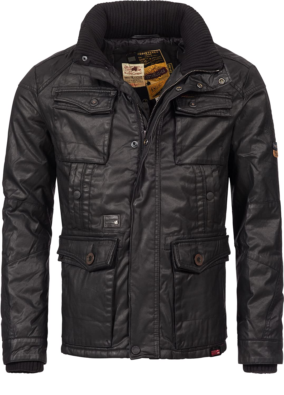 Winterjacke | Wintermantel | Baumwoll-Parka für Herren Modell Bodo von Khujo – eleganter Kurz-Mantel im schlanken Parka-Stil auch für den Übergang Herbst / Winter kaufen