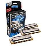 Hohner 3P532BX Blues Harp Harmonica, Pro Pack, Keys of C, G, and A Major (Tamaño: 10)