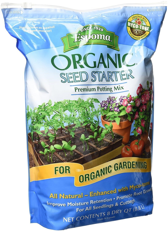 Organic seed starter potting mix soil dirt grow seedlings for Organic soil