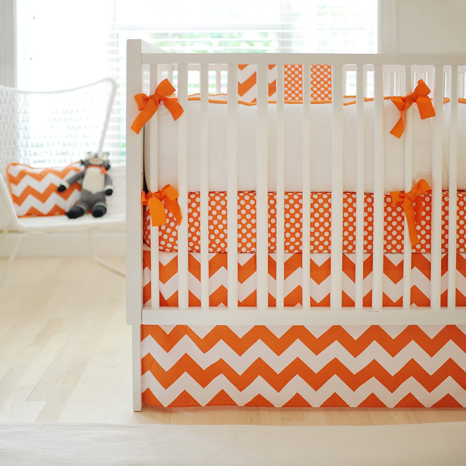 orange crib bumper pads  best baby crib inspiration - zig zag  piece crib bedding set in tangerine check price