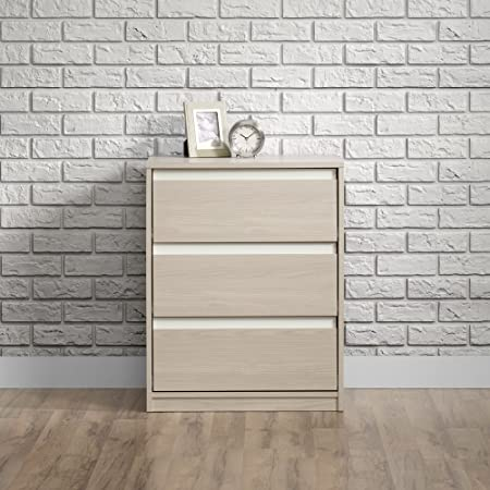 Sauder Square1 3-Drawer Chest in Grey Ash