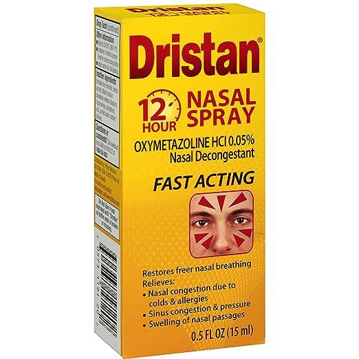 Dristan Nasal Decongestant, 12-Hr Nasal Spray, .5 oz.