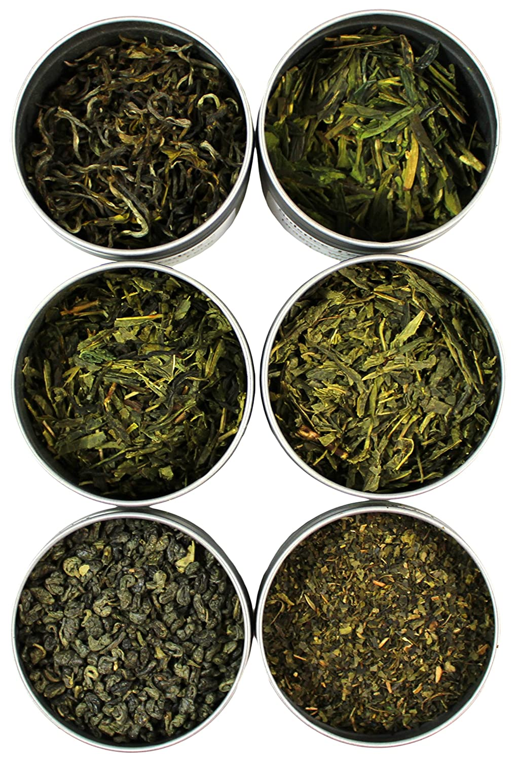 Loose Leaf Green Tea Sampler, Exotic and Rare Green Tea Loose Leaf Tea Sampler, Dragon Well, Gunpowder, Sencha, and More, Loose Tea Sampler