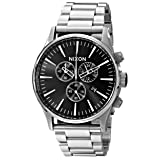 Nixon Men's A386000 Sentry Chrono Watch (Color: Black, Tamaño: One Size)