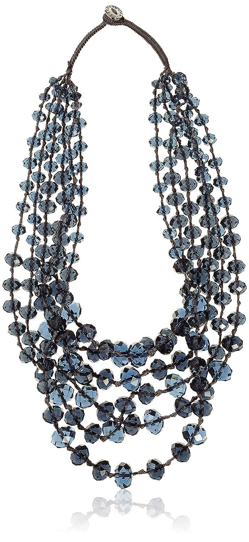 Dyrberg/Kern Damen-Halskette 15/02 Cady Ss Blue  Glas blau 44 cm – 338282 jetzt kaufen
