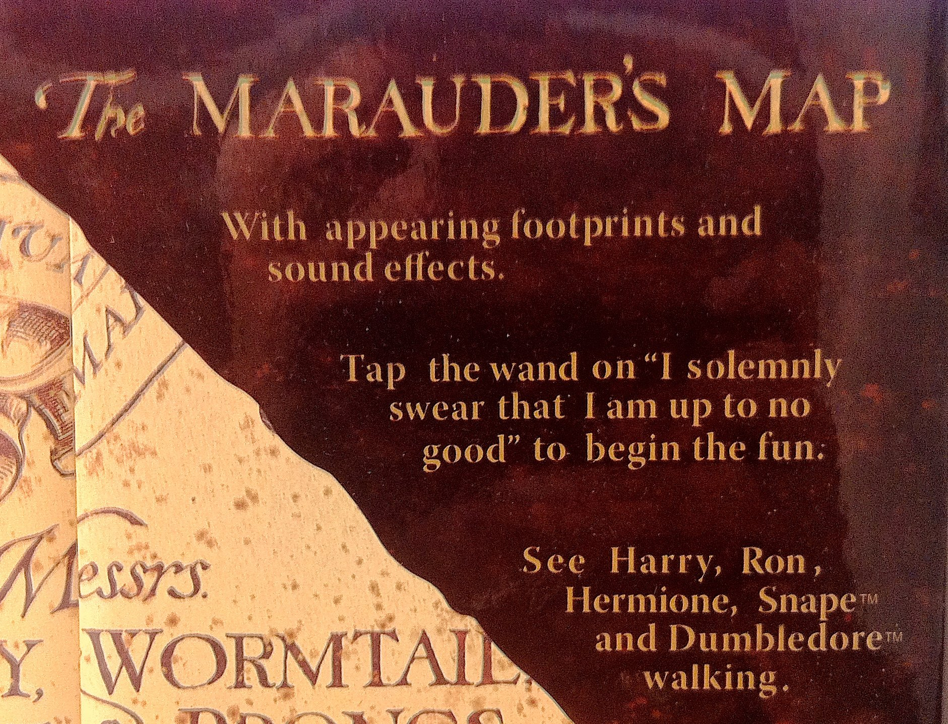 Wizarding world of harry potter electronic marauder s map w moving footprints