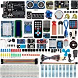 Smraza Uno R3 Starter Kit for Arduino with Tutorials and 9V 1A Power Supply Compatible with Arduino UNO R3 Mega2560 Nano (40 Projects) (Color: UNO R3 Complete Starter Kit)
