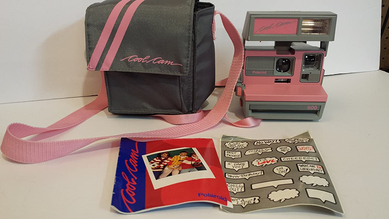 Vintage Polaroid Pink & Gray Cool Cam 600 Instant Camera 0