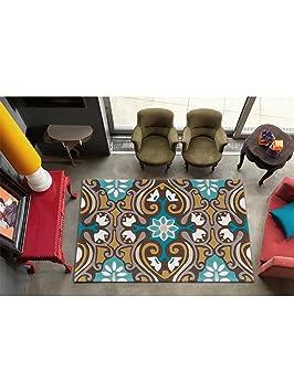 3 benuta tapis de de salon moderne harlequin scroll pas cher cher marron 120x180 cm. Black Bedroom Furniture Sets. Home Design Ideas