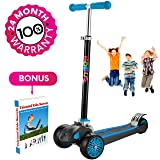 Scooter For Kids, Maxi Foldable Kick Scooter Deluxe, handlebars adjustability from age 5-12, Surface-safety Balance Technology, 2