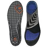 Sof Sole Men's Airr Orthotic Full-Length Performance Shoe Insoles, Men's Size 7-8.5 (Color: Black, Tamaño: Men's 7-8.5)