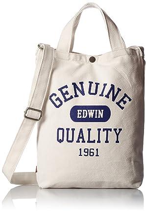 EDWIN(エドウィン) [エドウィン] トートバッグ ロゴプリント キャンバス A4収納