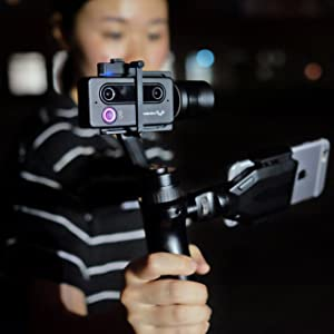 SID VR LITE SID 3D Camera Weeview Mini 3D Wi-Fi Video Camera Optional Handheld Stabilizer Gimbal