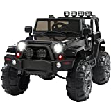 Best Choice Products 12V Ride On Car Truck w/ Remote Control, 3 Speeds, Spring Suspension, LED Light Black (Color: Black, Tamaño: Large)