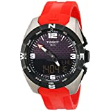 Tissot Men's 'T-Touch Expert' Swiss Quartz Titanium and Silicone Dress Watch, Color:Red (Model: T0914204705700) (Color: black)