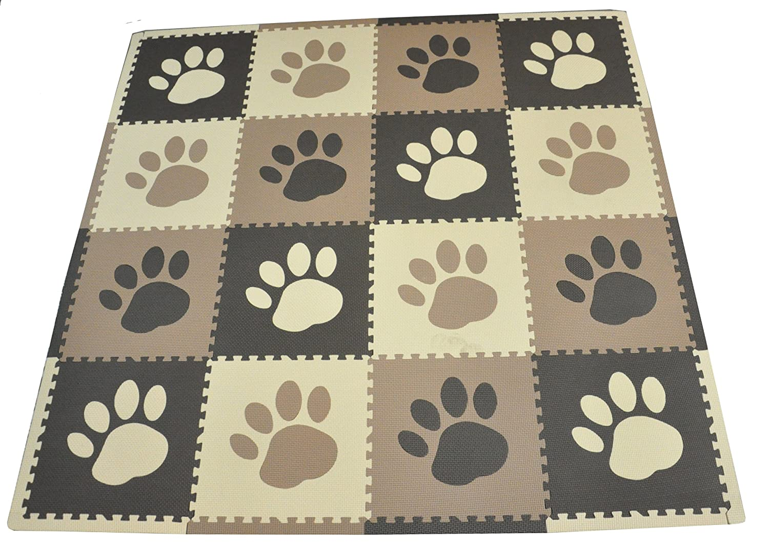 Tadpoles 16 Sq Ft Pawprint Playmat Set