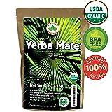 Yerba Mate Tea 1LB (16Oz) HI-CAFFEINE 100% CERTIFIED Organic SUPER-GREEN Yerba Mate | NO Dust | FRESH - NEVER Aged (Ilex Paraguariensis) | Brazilian Rain Forest Grown from U.S. Wellness Naturals (Tamaño: 1 lb)