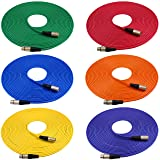 GLS Audio 50ft Mic Cable Cords - XLR Male to XLR Female Colored Cables - 50' Balanced Mike Cord - 6 PACK