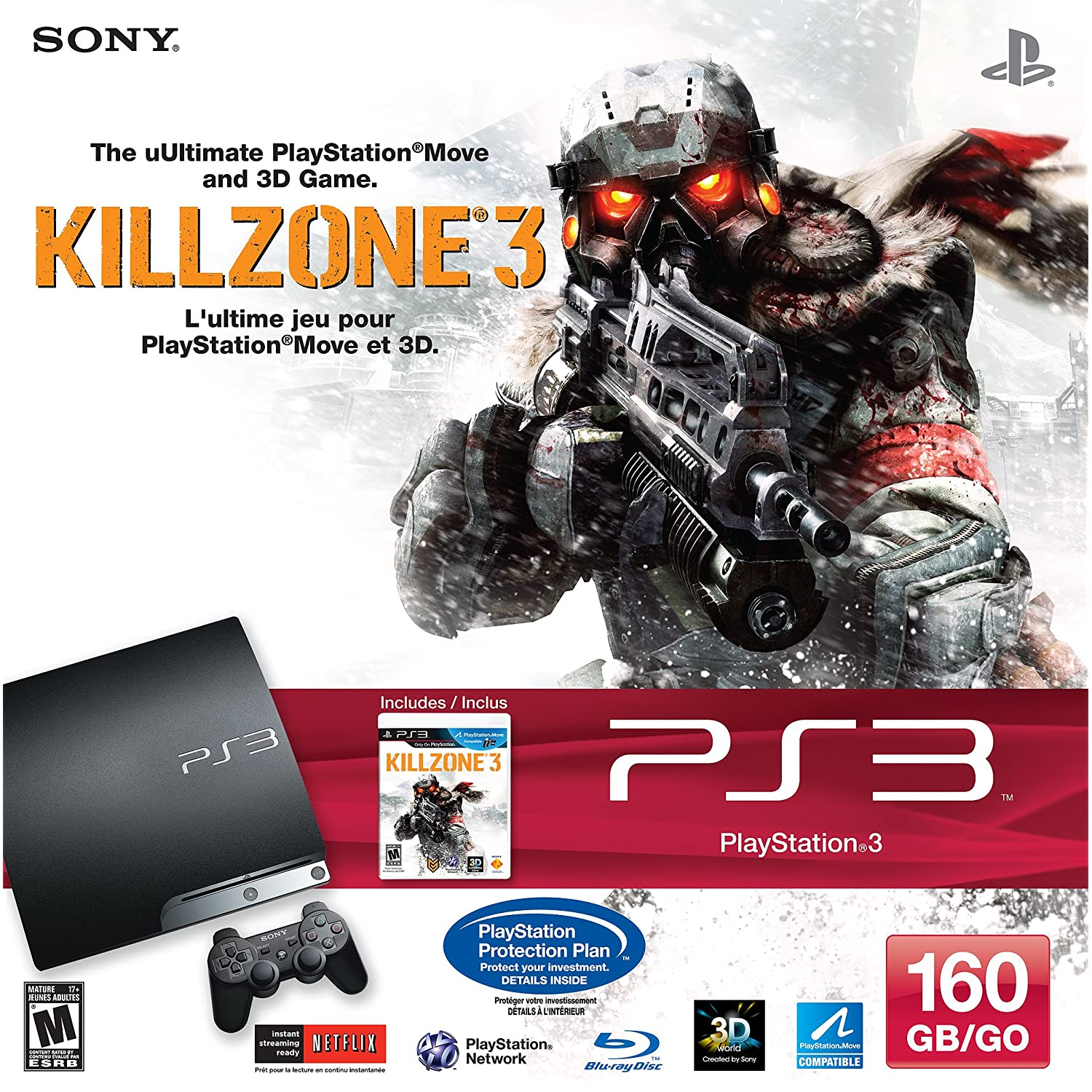 PLAYSTATION 3 160 GB Killzone 3 Bundle