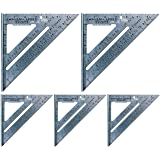 Swanson Tool S0101 7-inch Speed Square Layout Tool with Blue Book (5 Pack)