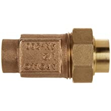 "Apollo 4N3A33A Bronze Dual Check Valve, 1/2"" NPT Female"