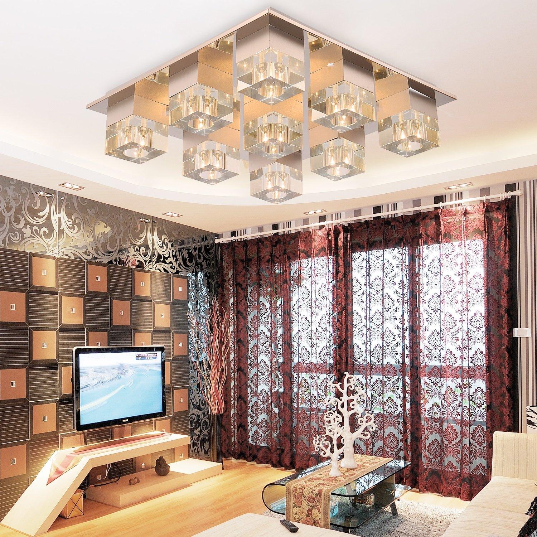 OOFAY LIGHT® einfache und graziöse 4*G4 Stücke- Kristall-Deckenlampe für Wohnzimmer moderne und stilvolle Kristallleuchte Deckenlampe für Schlafzimmer