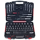Mechanic's Tool Kit by Stalwart - 135 Piece Hand Tool Set Includes - Screwdriver, Wrench, and Ratchet Set (Great for the Home, Garage, or Car) (Tamaño: 135 pc)