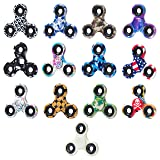 Fidget Spinner 12 Pack + Bonus Glow In The Dark | Party Favors | Prime Coolest Spinners | Camouflage | Individually Boxed | ADHD Focus Anxiety Stress Relief Toys | No Big Noise by NeatFi