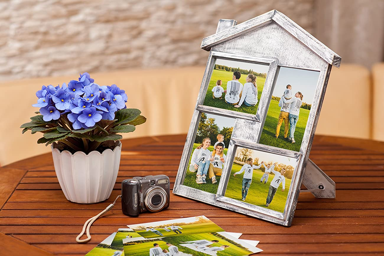Collage Picture Frame – High Quality Gift – 4x6 Photo Collage Solid Wood - for Family Love and Best Friends 3