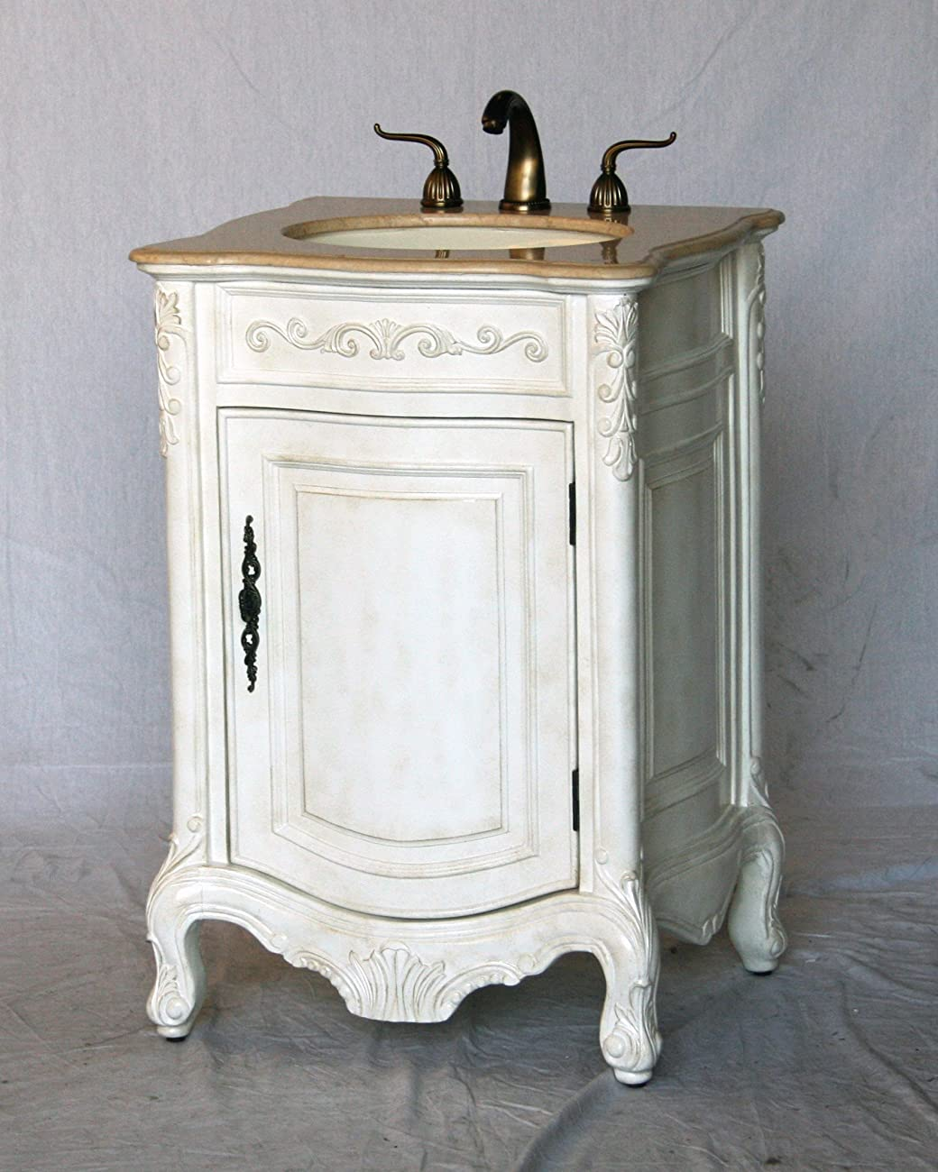 24 inch antique style single sink bathroom vanity model 2232 aw for Bathroom vanities vintage style