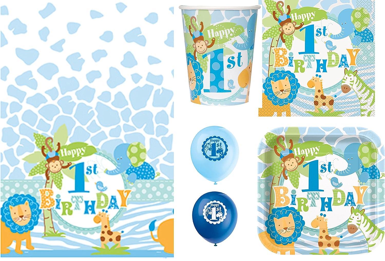 Blue Safari Boys First Birthday Party Supplies  Birthday Wikii