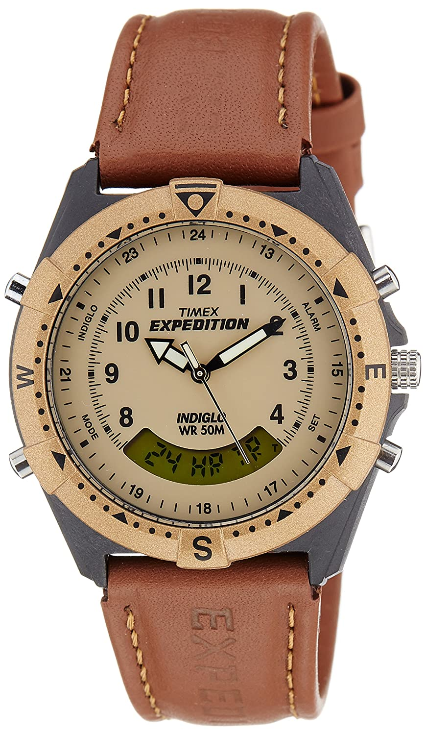 Upto 50% off On Watches Top Brands By Amazon | Timex Expedition Analog-Digital Beige Dial Unisex Watch - MF13 @ Rs.1,949