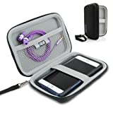 USA Gear Hard Shell iPod Travel Case Compatible with Apple iPod Touch (6th Generation, 5th Generation), iPod Nano with Protective EVA Design, Weather Resistant Exterior, Wrist Strap - Black (Color: Black)