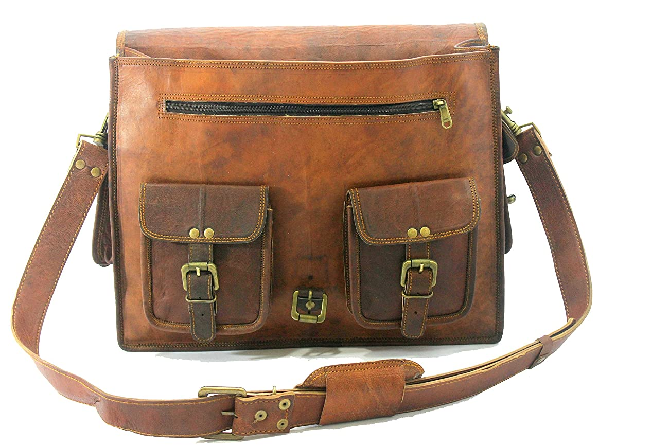 Handmade_ world leather messenger bags for men women mens briefcase laptop bag best computer shoulder satchel bag 4