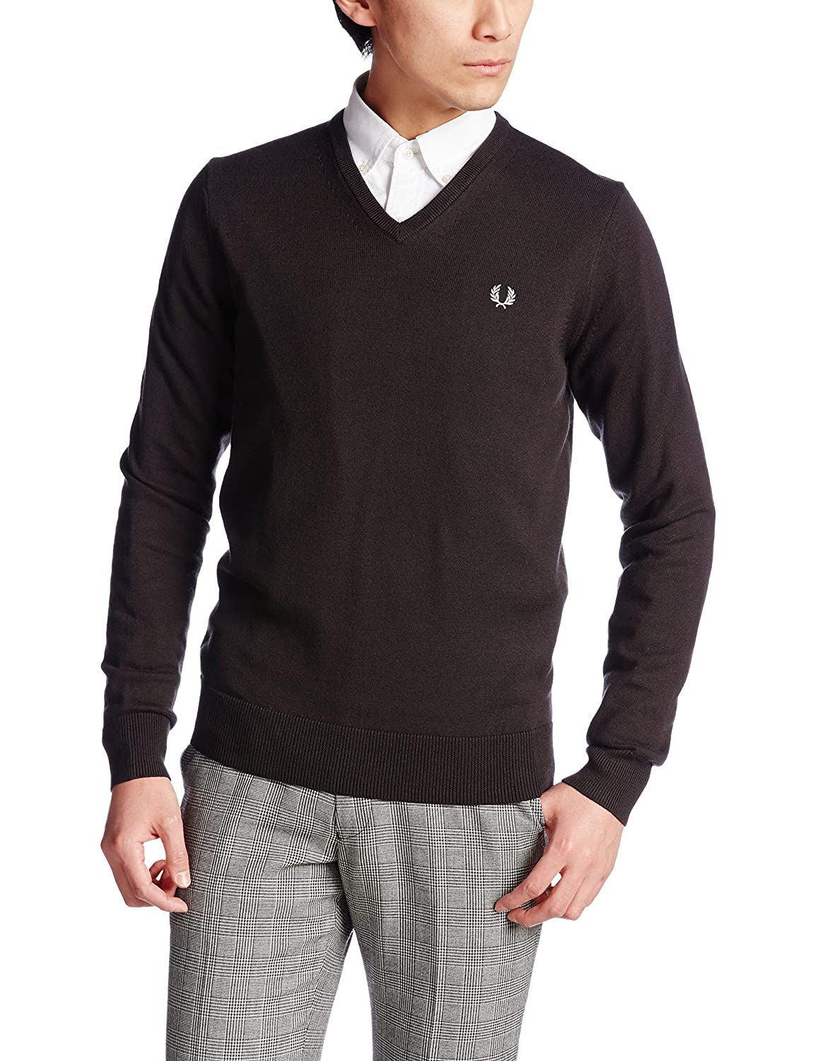 Amazon.co.jp: (フレッドペリー)FRED PERRY CLASSIC TIPPED V NECK SWEATER: 服&ファッション小物通販